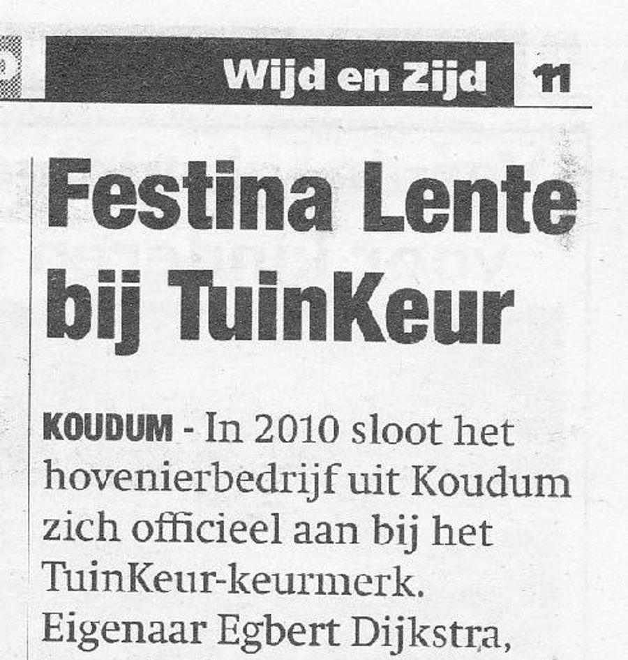 Festina Lente bij Tuinkeur
