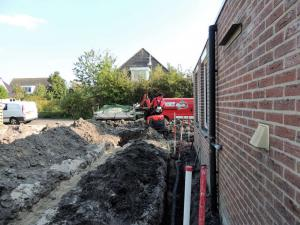 005. De aanleg van drainage, leidingen en bekabeling